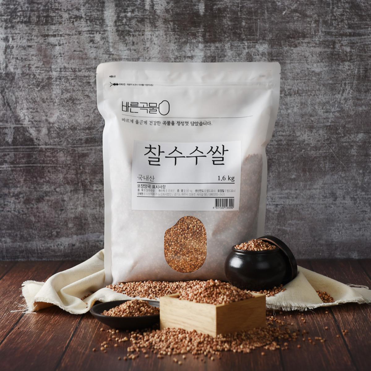 바른곡물 찰수수쌀, 1.6kg, 1개