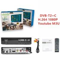 DVB-T2 HD TV 튜너 DVB-C 콤보 디지털 지상파 수신기 Youtube AC3 오디오 디코더 완전 1080P H.264 M3U 셋톱 박스, 협력사, DVB-T2-C H.264, 미국 플러그 (TOP 5544360704)