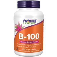 NOW Supplements Vitamin B-100 Energy uction* Nervous System Health* 100 Veg Capsules 9999995401, One Size, One Color (TOP 2066440210)