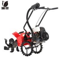 승용관리기 구굴기 텃밭용 트레일러 농기계 농사용 미니 소형, 도랑 절단기 토양 절단기 제초 휠이 장착 된 Zo (TOP 5303046697)