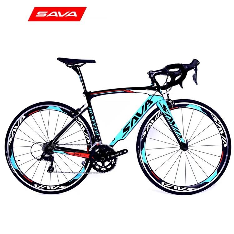 엔라인 풀카본 700C 18단로드자전거 R3000시마노변속 혼합색상A788, 170cm, 블루