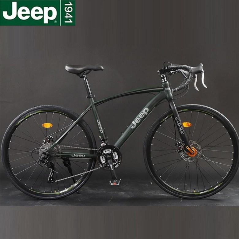 지프 JEEP 700C 라이딩 로드 자전거, 27 스피드 코너 그린