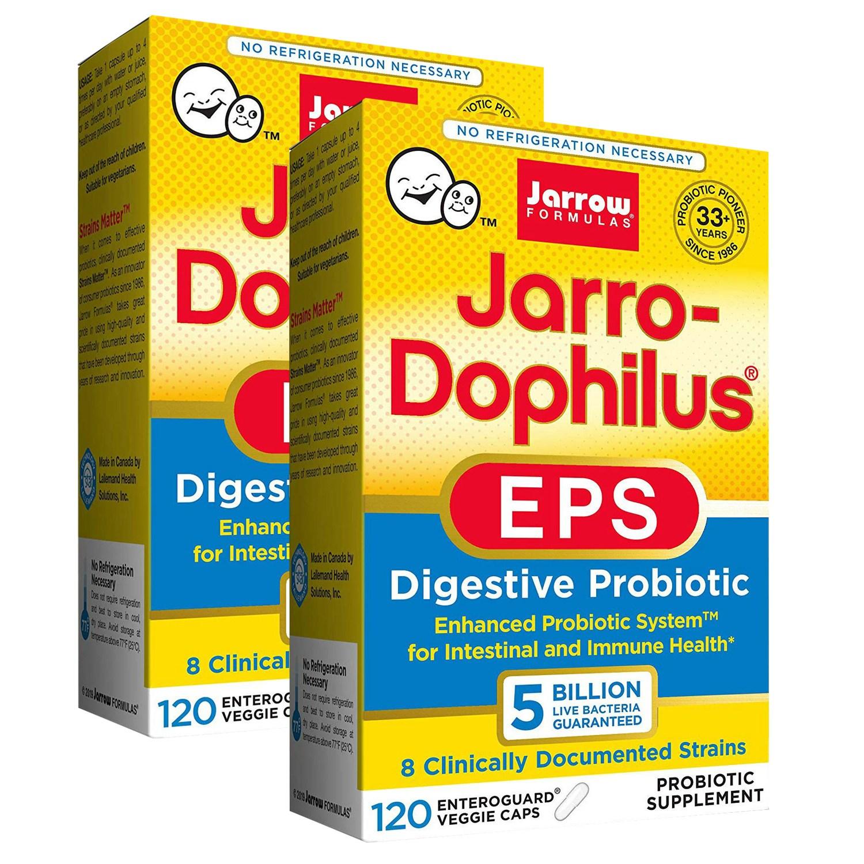 재로우 자로-도필러스 EPS 다이제스티브 프로바이오틱 유산균 5 빌리언 베지캡, 2개, 120개입