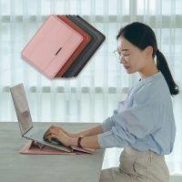 이쿠 맥북 삼성 LG그램 가죽 13인치 15인치 노트북 파우치 케이스, 핑크 (TOP 5449254084)