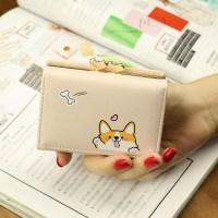 [리틀데이지] 귀여운 웰시코기 시바견 캐릭터 반지갑 10대 여학생 지갑 (POP 1552921556)