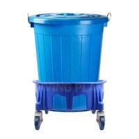 [올유원트] 다용도 대형플라스틱통 만능용기 파란통+이동카트(75L 110L), 110L(만능용기+이동카트) (TOP 4597153038)
