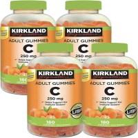 커클랜드 비타민C 250mg 180 구미 4팩, 1개, 기본 (TOP 5309654219)