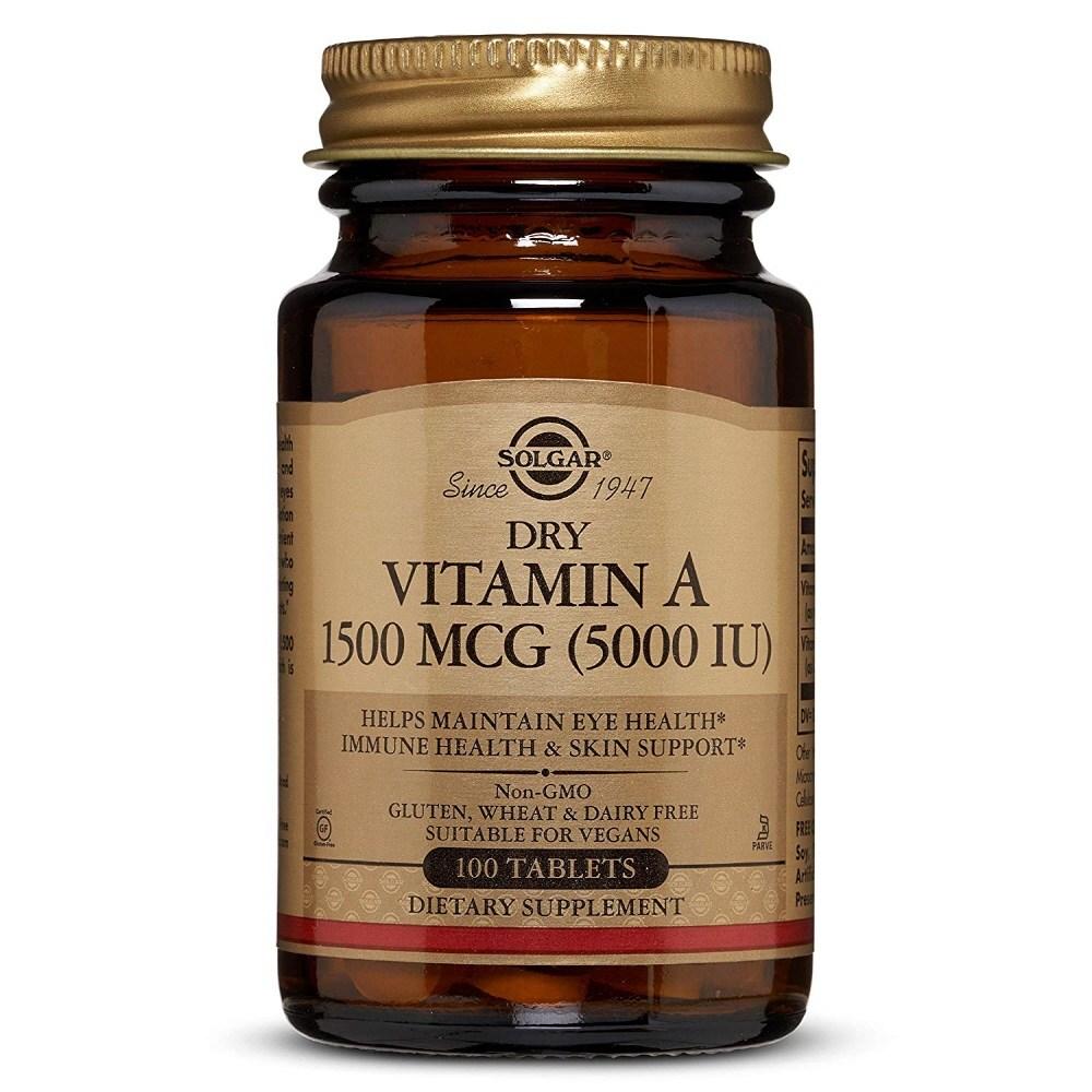 Solgar 솔가 비타민 A Dry Vitamin 5000 IU 100 정, 1개