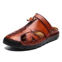 2021 토앤토 쪼리 플립플랍 여름 남성 남자 플랫 샌들 신발 패션 슬리퍼 여름 야외 캐주얼 신발 Pu 가죽 부드러운 캐주얼 패션 신발 (TOP 5844910673)