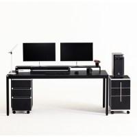 다가구 프래그마 1800 x 800 컴퓨터책상, 블랙+블랙(상판):블랙(프레임) (TOP 92772928)