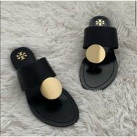 해외상품 TORY BURCH PATOS DISK SANDAL 토리 버치 여름 럭셔리한 여성 샌들 패션 가죽 슬리퍼 블랙 칼라 46914 (POP 5225022442)