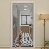 럭키줌마 방묘문 고양이울타리 안전문 강아지펜스 펫도어 방충문, 화이트 (TOP 2133089971)