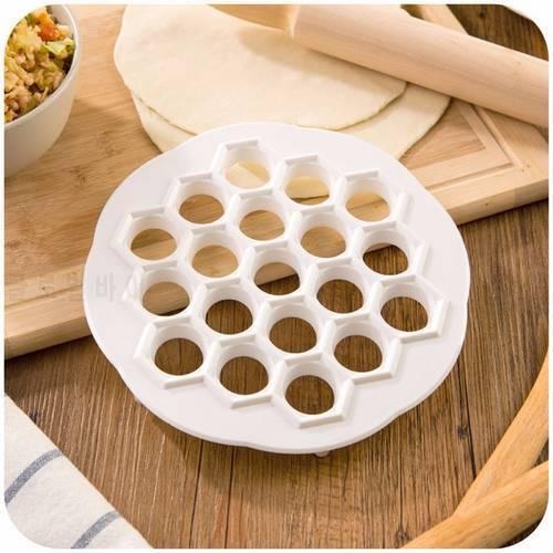 1 개 만두 금형 메이커 주방 과자 도구 DIY 흰색 플라스틱 반죽 프레스 만두
