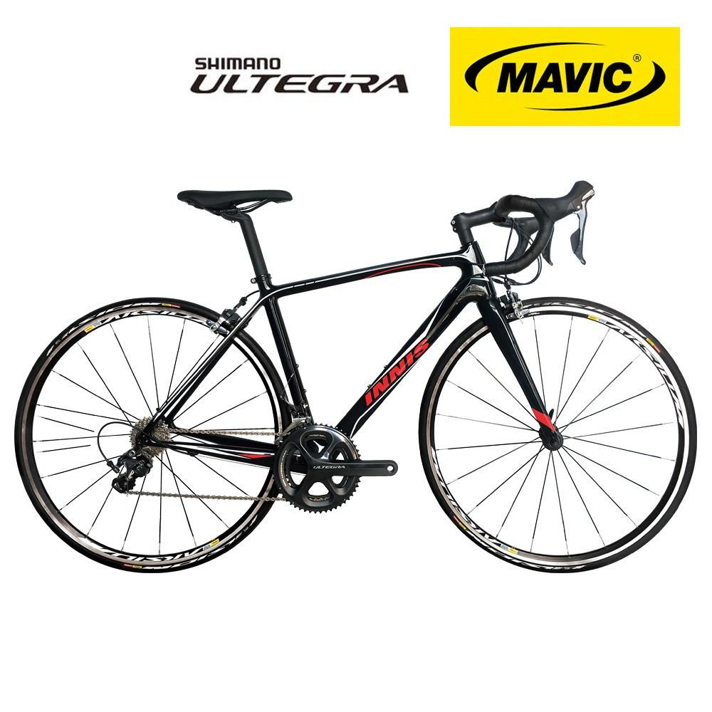 지멘스 700C 이니스 풀카본 프랑스 마빅휠셋 울테그라22단 미조립박스 로드 자전거, 풀카본 이니스 22단_블랙레드