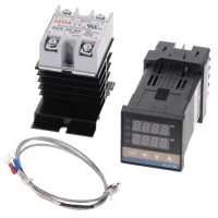 100-240VAC PID REX-C100 온도 컨트롤러 범위 0 900C SSR40A K 열전쌍 PID 컨트롤러 세트 방열판, 협력사, RKC-C100 키트 4Pcs A (TOP 5630081789)