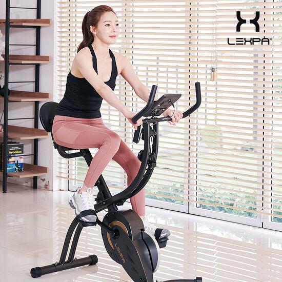 렉스파 스핀엑스 실내자전거 스피닝 YA-430, 라이트그레이