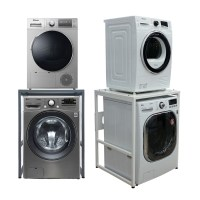 듀오스탠드 앵글구멍없는 고급 건조기 세탁기 선반 앵글 (화이트 실버 선택) 상판까지 풀메탈, DST-101S(실버) (TOP 184125342)