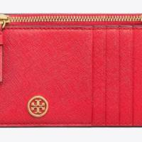 토리버치 [Tory Burch] ROBINSON SLIM CARD CASE 50211 Brilliant Red (TOP 4952365413)