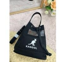 QZ  KANGOL 3776 캔버스 버켓백 블랙 아이보리 (2020신버전) (TOP 1793900260)