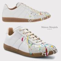 메종마르지엘라 REPLICA 페인트 드롭 스니커즈 WHT (POP 1724827555)