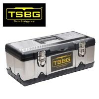 TSBG 정품 공구함 철  트렁크 공구통 정리함 보관함 스텐레스 공구함, 大, B타입(스텐) (TOP 4747104118)