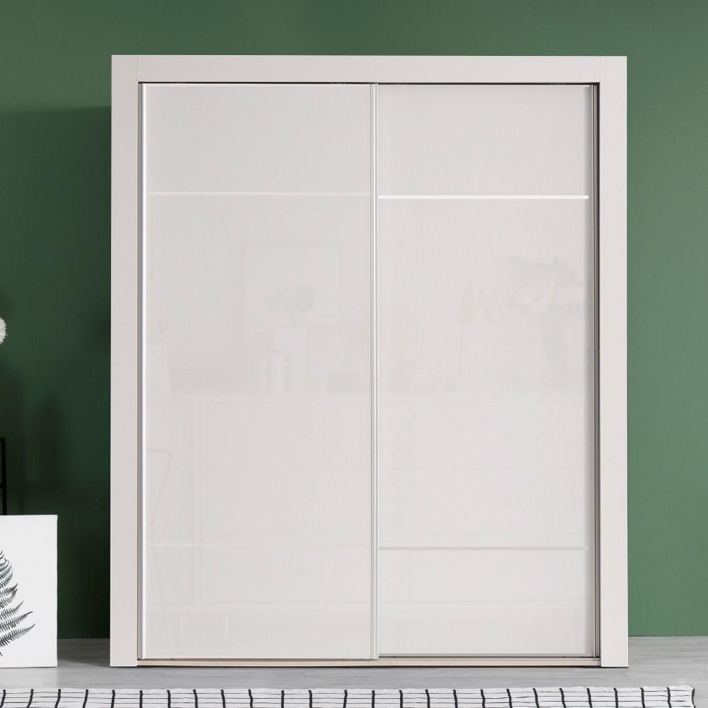 대도갤러리 키높이 클래시 하이그로시 6자 슬라이딩옷장 (너비1770), 라인-화이트
