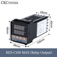 PID RKC 디지털 지능형 산업용 온도 컨트롤러 220V 릴레이 REX-C100-C400-C700-C900 온도 조절기 SSR 릴레이 출력, REX-C100MAN (TOP 5248755660)
