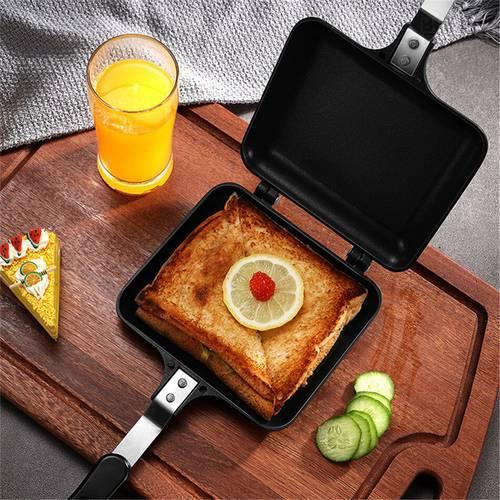 TTLIFE 샌드위치 토스터 그릴 스낵 메이커 붙지 않는 프라이팬 더블 사이드