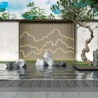 인테리어 가벽 간살 파티션 타공 칸막이 셀프가벽만들기 거실 사무실 칸막이 가벽 스테인레스 스틸 화면 배경 벽 안뜰 입구 금속 그릴 어 레이저 속이 빈 알루미늄 조각 262, 맞춤형 (TOP 5650566326)