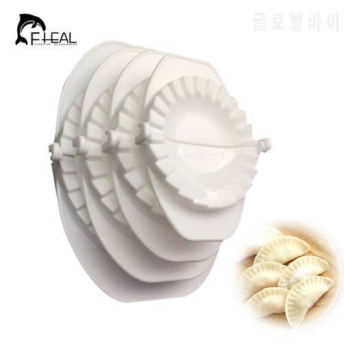 FHEAL 4pcs / set 보도 라비 올리 반죽 과자 파이 만두 메이커 만두 금형 도