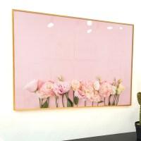 이나코리아 화사한 꽃 식물 그림 인테리어 액자 거실 주방 집들이 선물, 1번 모란꽃의 핑크배경_골드 메탈 액자 (TOP 1786908208)
