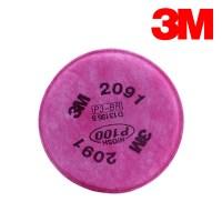 3M 양구형 마스크 방진 필터 2091K 1set 방독 정화통 (TOP 1200668844)