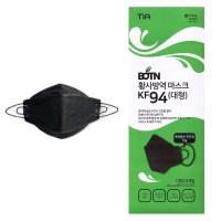 보튼 KF94 끈조절 대형 블랙 마스크 개별포장 20매입, 보튼 KF94 블랙 20매입 (TOP 4939350253)