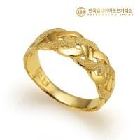 [한국금다이아몬드] 24k 여자 순금 반지 꼬임샌딩 3.75g 디자인 (TOP 4911586157)