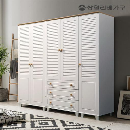 [50개한정 할인쿠폰+상품권 증정] 상일리베가구 하모니 갤러리 장롱 옷장 수납장 시리즈, 오크
