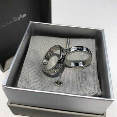 여자패션반지콜림키오엠 정품 미니 ck반지 커플링 티타늄강