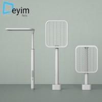 Deyim tech 전기 파리채 USB 충전식 모기퇴치기 ZD2021-A, 화이트 (TOP 5056900942)