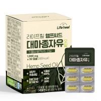 1000mg x 30캡슐 유기농인증 100% 햄프씨드오일, 1박스 (TOP 5954330521)