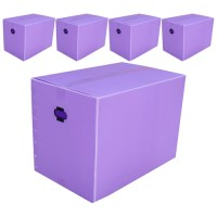 네오비 이사박스 5개묶음, 3호(500×350×350), 보라 (TOP 5375817056)
