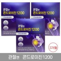 관절엔 콘드로이친1200 900mgX60정 3개월 3박스, 3box (POP 4783465437)