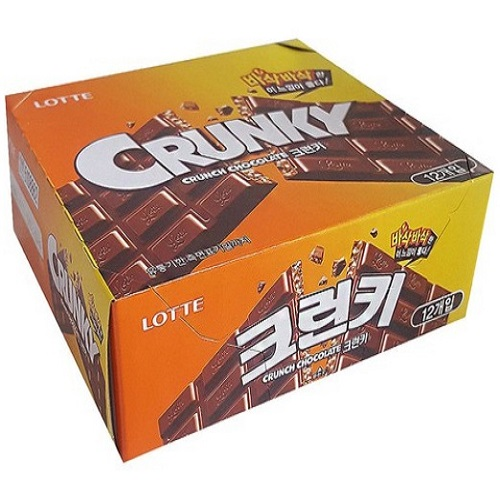 롯데 크런키 초콜릿 34g 12개입 (1곽), 24개