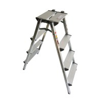 사다리 가정용 상업용 접이식 알루미늄 광폭 사다리4단 (TOP 134176348)