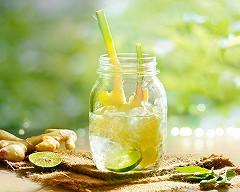 Boisson detox citron gingembre