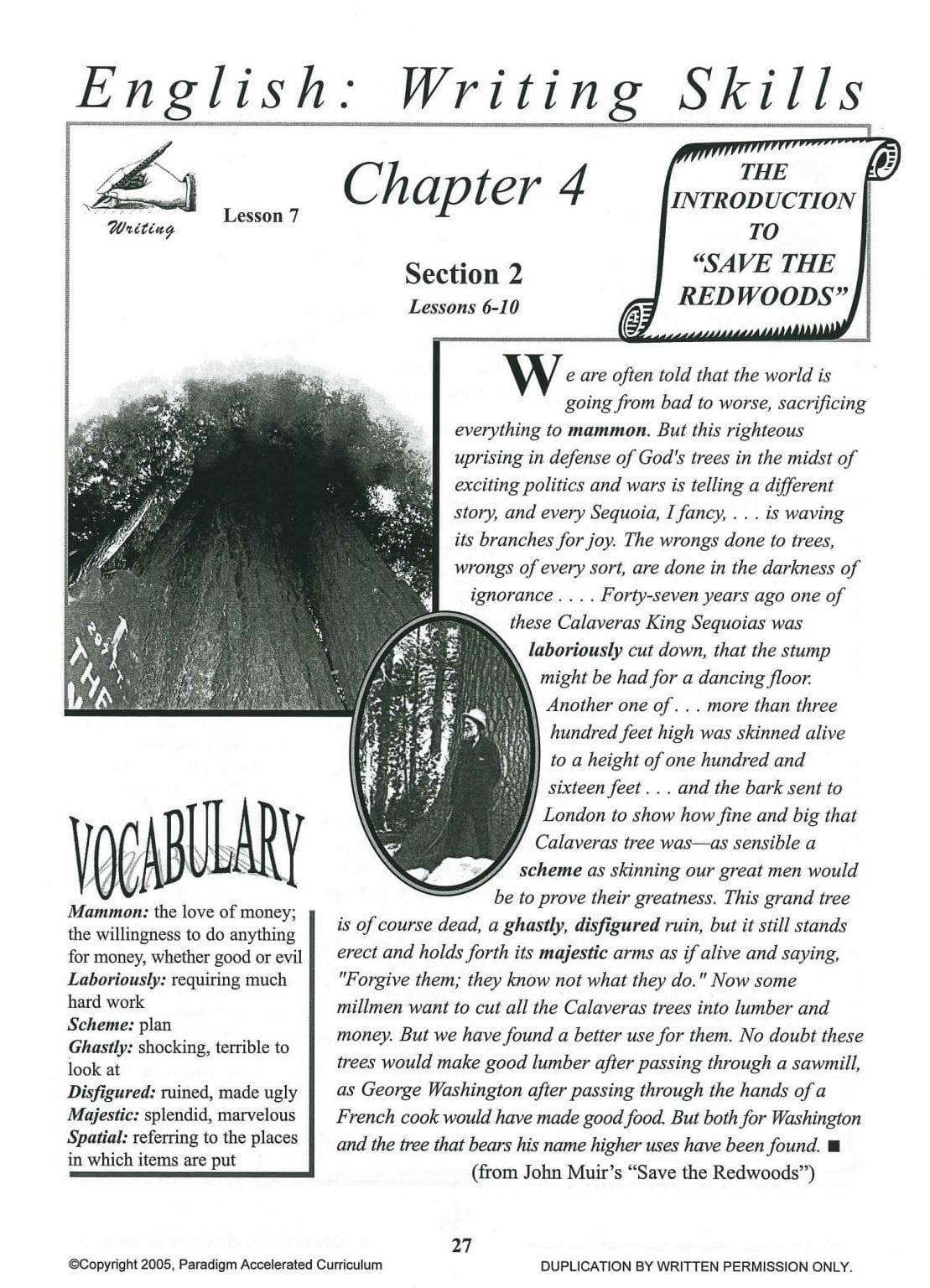 English III: Writing Skills Chapter 4 Text. Save Now!