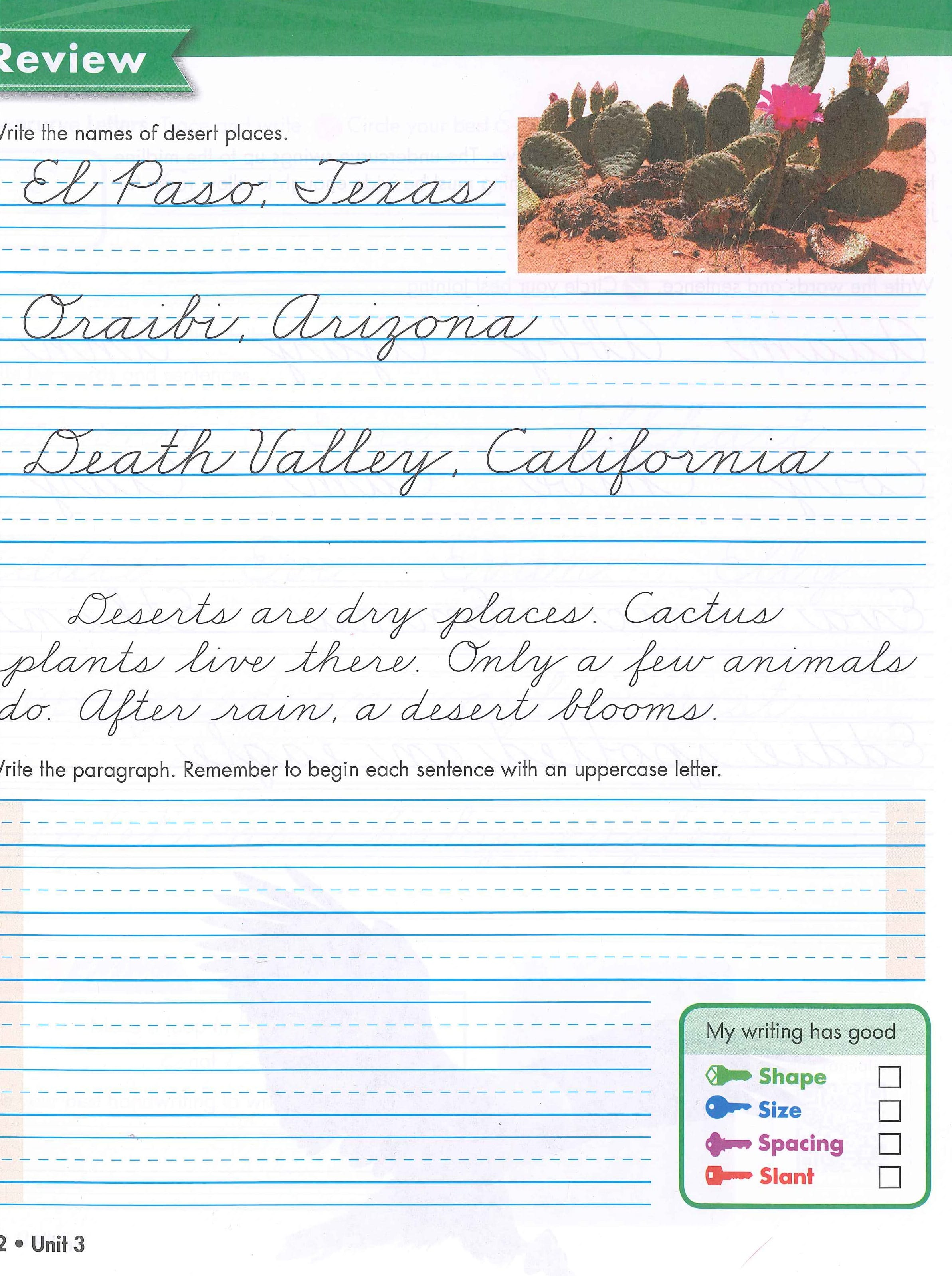 Sale On Zaner Bloser Handwriting Cursive Reinforcement Grade 4