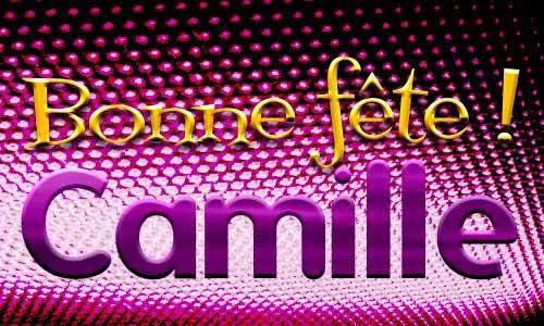 Carte Camille 14 Juillet