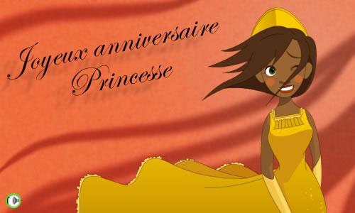 carte anniversaire de princesse