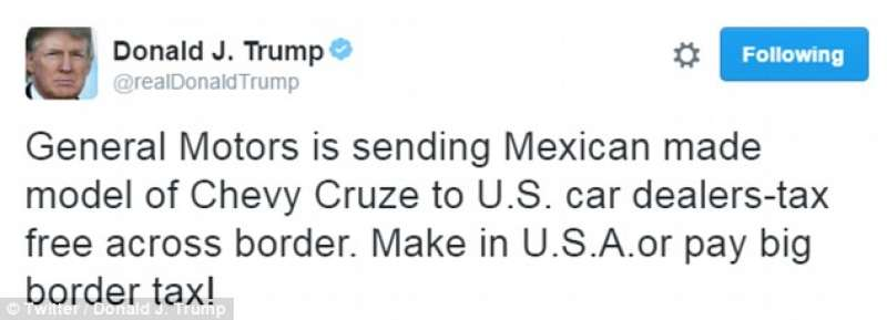 TRUMP TWEET GM