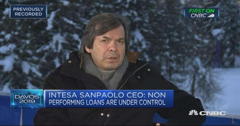 CARLO MESSINA A DAVOS