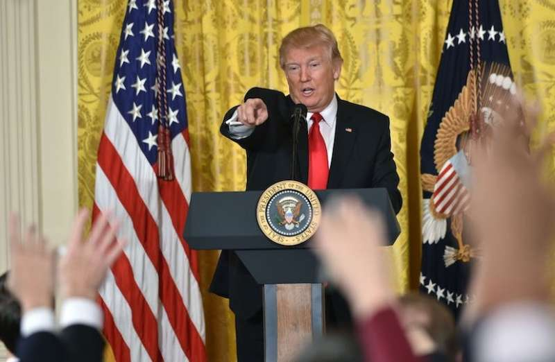 DONALD TRUMP CONFERENZA STAMPA